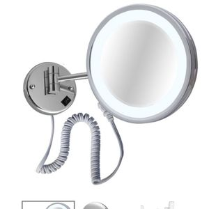 5x Magnification Mirror lighted Plug in Br Nick